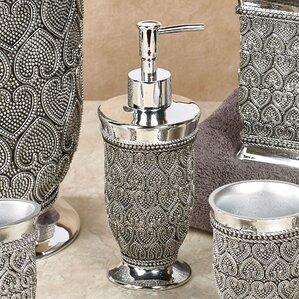 silver glitter bathroom accessories.  Bathroom Accessories You ll Love Wayfair