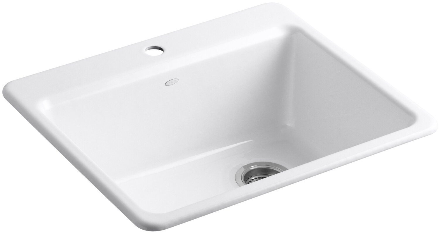 riverby 25   x 22   x 9 5 8   bar kitchen sink with k 5872 1a1 02047 kohler riverby 25   x 22   x 9 5 8   bar kitchen      rh   wayfair com