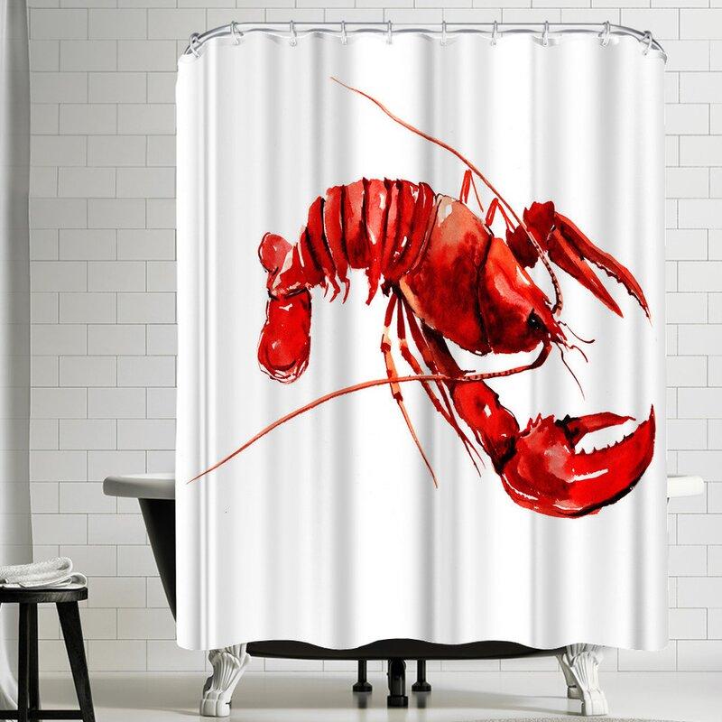 East Urban HomeSuren Nersisyan Lobster Shower Curtain