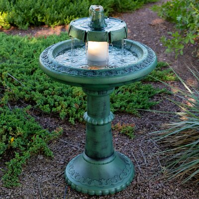 2 Tiered Resin Fountain With Light Alpine