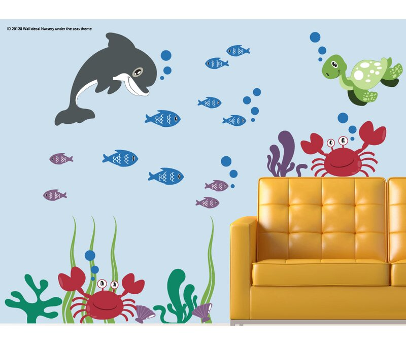 Wall Decal Source Dolphin Turtle Ocean Under The Sea Wall Decal