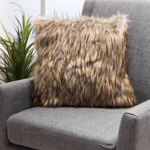 Gillian Faux Fur Throw Pillow