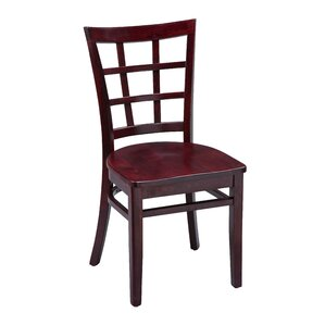 Amoroso Beechwood Lattice Back Seat Solid Wood Dining Chair by Red Barrel Studio