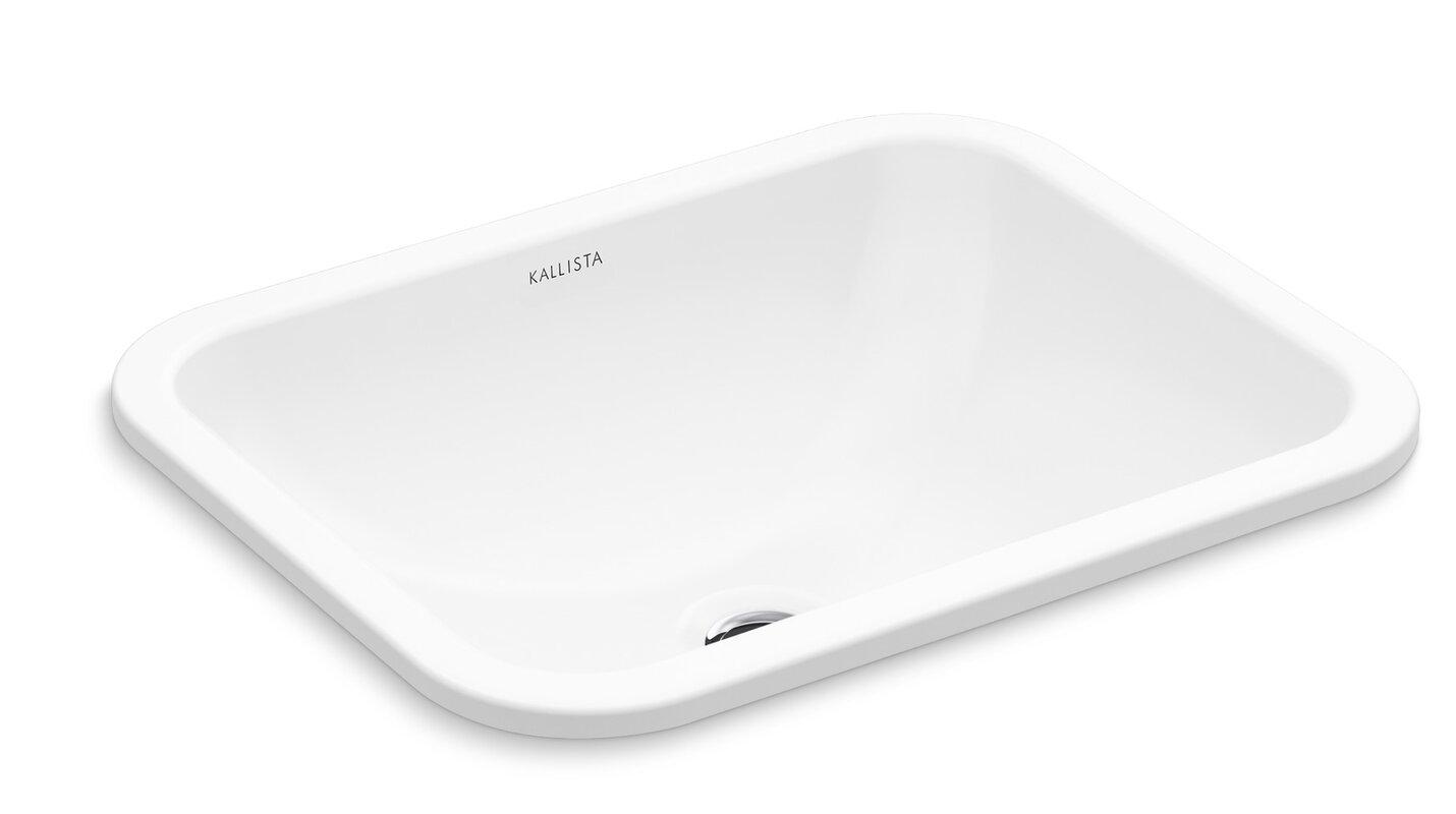 Kallista Perfect Soft Rectangle Undermount Bathroom Sink with ...