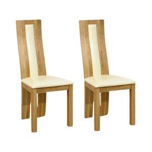 2-tlg. Esszimmerstuhl-Set Thevenard aus Massivholz von Home Etc