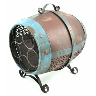 Rohini Decorative Barrel 5 Bottle Tabletop Wine Rack