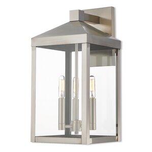 Demery 3 Light Outdoor Wall Lantern