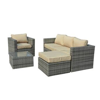 Rister 4 Piece Rattan Sofa Seating Group with Cushions & Reviews ...