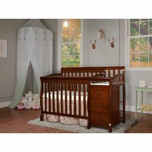 Jayden 4-in-1 Convertible Mini Crib and Changer Combo