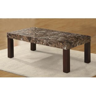 Mccullum Faux Marbelized Granite Coffee Table
