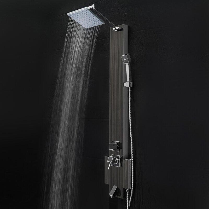 AKDY Rain Shower Head Shower Panel & Reviews | Wayfair