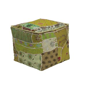 Mendosa Square Patchwork Pouf by Bungalow Rose