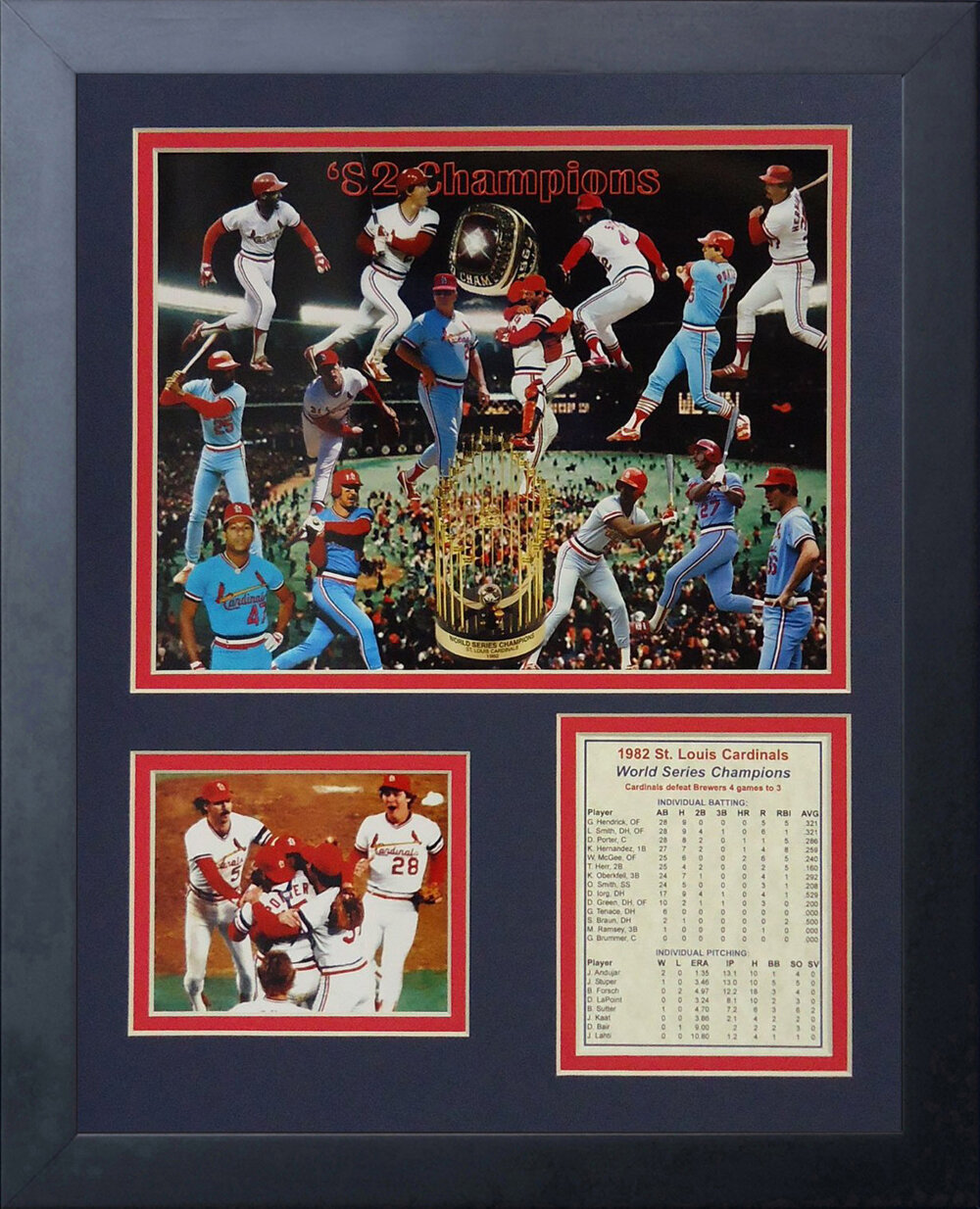 Legends Never Die 1982 St Louis Cardinals Framed Memorabilia