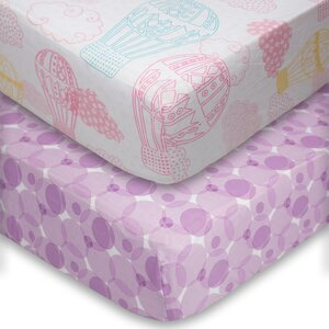 Dreamscape Fitted Crib Sheet (Pack of 2) (Set of 2)