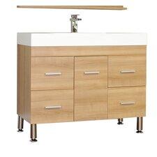 """Alesha 39"""" Single Modern Bathroom Vanity Set"""