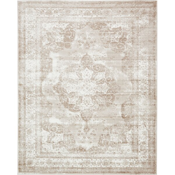 mistana brandt beige area rug & reviews | wayfair Beige Rug