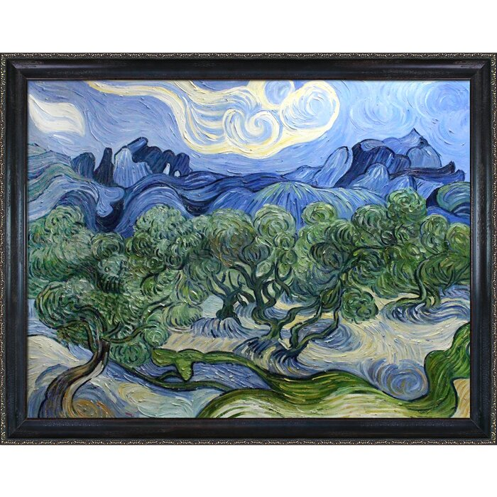 Tori Home Olive Trees with the Alpilles in the Background by Vincent ...