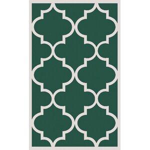 Duffield Green Geometric Area Rug