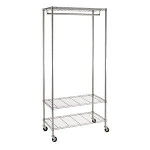 36″ W 3-Shelf Deluxe Garment Rack