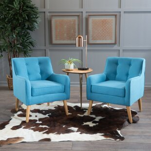 Set Of 2 Accent Chairs Teal Wayfair