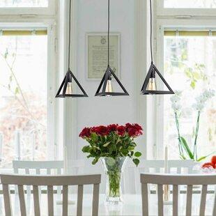 Modern kitchen island pendants allmodern merriam 3 light kitchen island pendant aloadofball Images