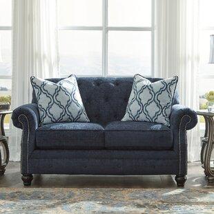 Wayfair Custom Upholstery Bedford Leather Loveseat