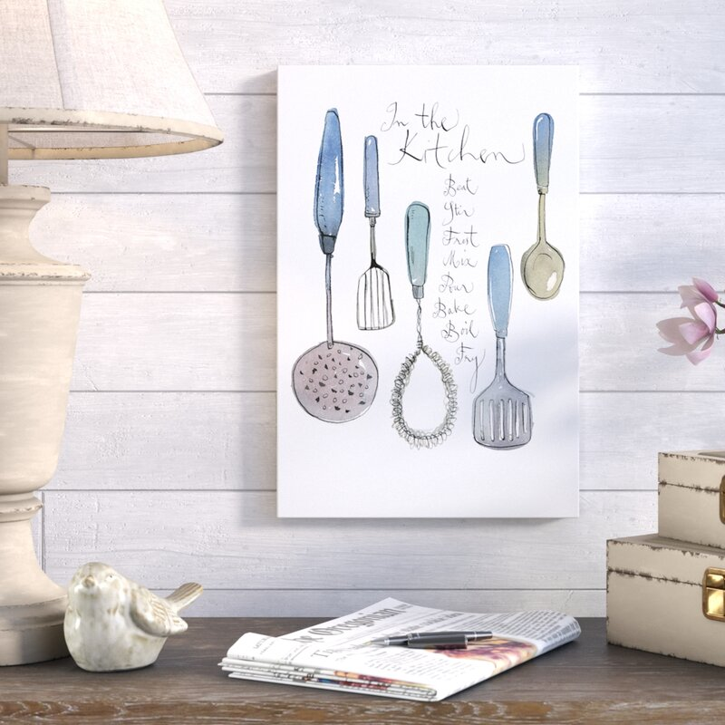 Beau Kitchen Utensils Graphic Art On Wrapped Canvas