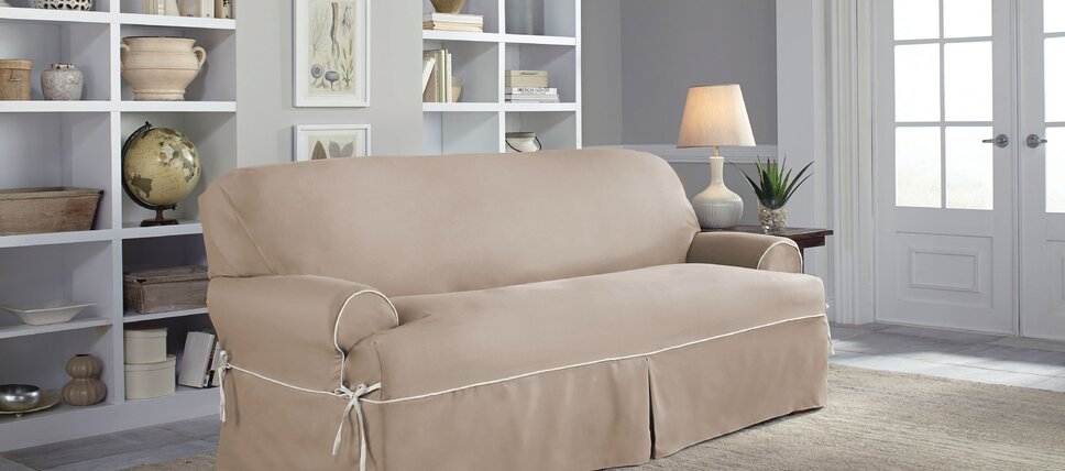 Solid Colored Sofa Slipcovers