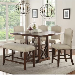 Marvelous Chevaliers 6 Piece Counter Height Dining Set