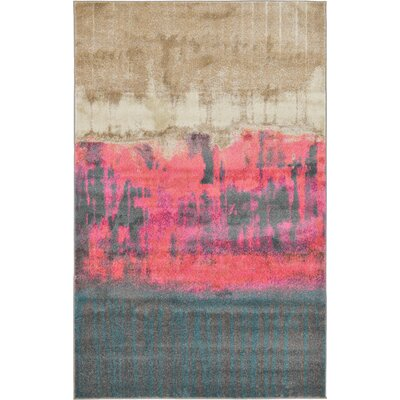 Wrought Studio Wynn Traditional Pink Area Rug Rug Size: Rectangle 5' x 8'
