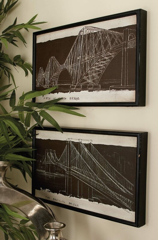 Cole grey blueprint 4 piece framed graphic art set reviews wayfair blueprint 4 piece framed graphic art set malvernweather Images