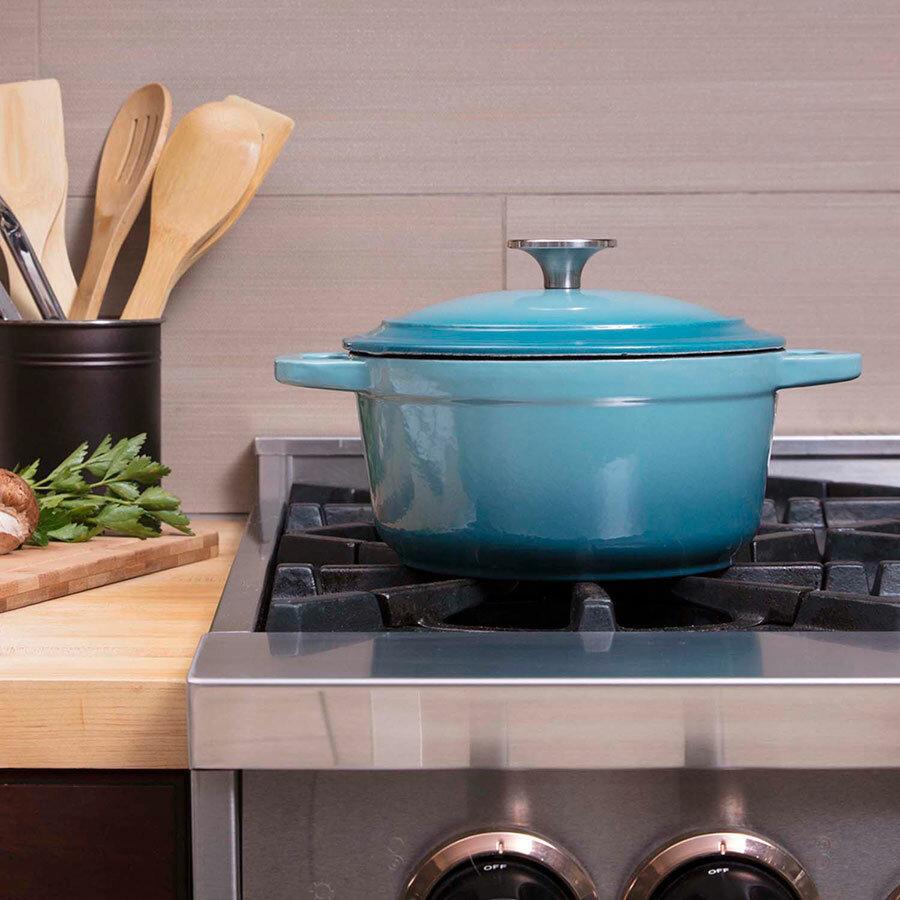 Zelancio 3 Qt. Cast Iron Round Dutch Oven | Wayfair