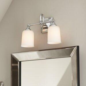 Bathroom Lighting Under $50 find the best 2 light bathroom vanity lighting | wayfair
