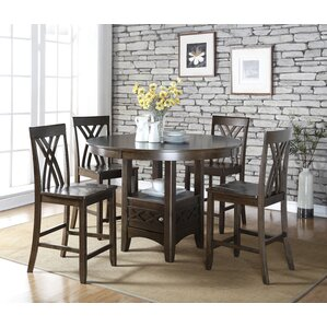 Ashley 5 Piece Counter Height Dining Table Set by Living In Style