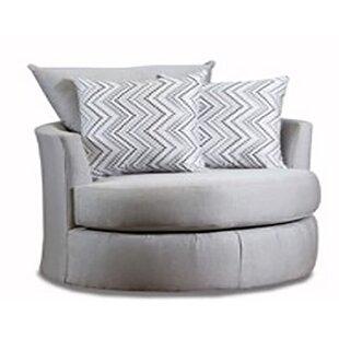 Porras Round Swivel Barrel Chair