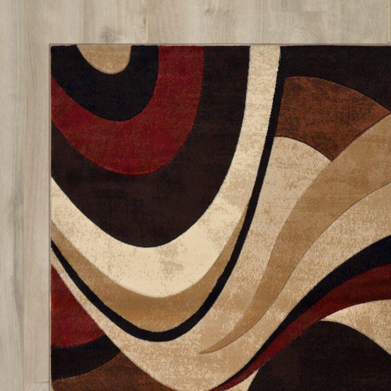 wade logan ezekiel 3 piece brown & cream area rug set & reviews