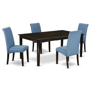 Tatyana Table 5 Piece Extendable Solid Wood Dining Set