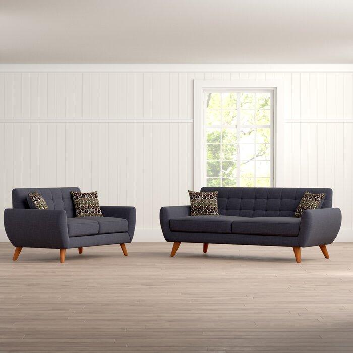 Langley Street Wooten 2 Piece Living Room Set & Reviews   Wayfair.ca