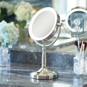 cordless dualsided led lighted vanity mirror