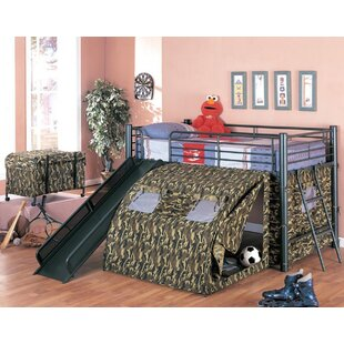 Naveen Camouflage Twin Low Loft Bed