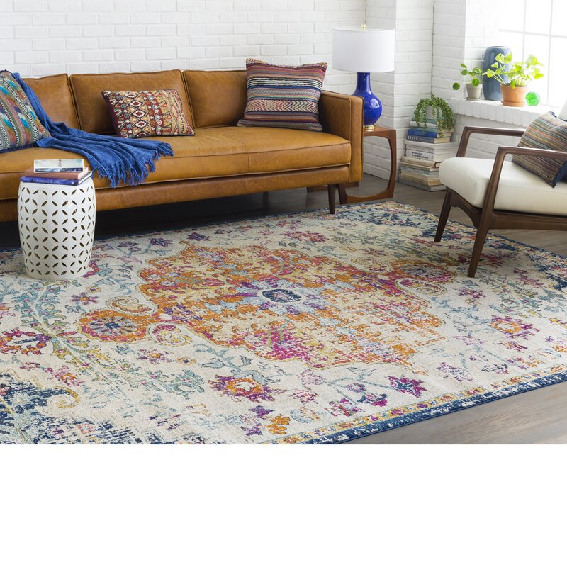Hillsby Blue Orange Area Rug Amp Reviews Joss Amp Main