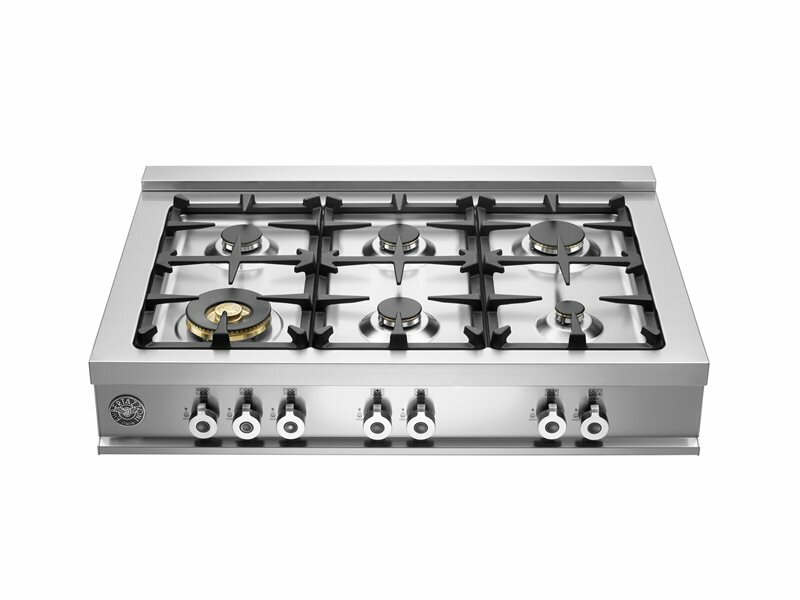 """Bertazzoni Pro Series 36"""" Gas Cooktop with 6 Burners"""