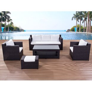 Roma 5 Seater Rattan Sofa Set With Cushions