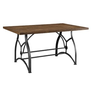 Dionne Wood and Metal Dining Table by Williston Forge