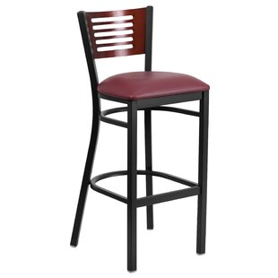 Chafin Slat Back Metal 32 Bar Stool