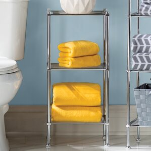 Free Standing Bathroom Shelving You Ll Love Wayfair