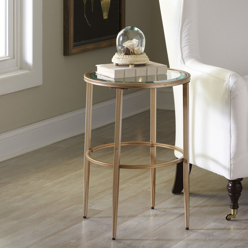 Nash Round Side Table Reviews Birch Lane