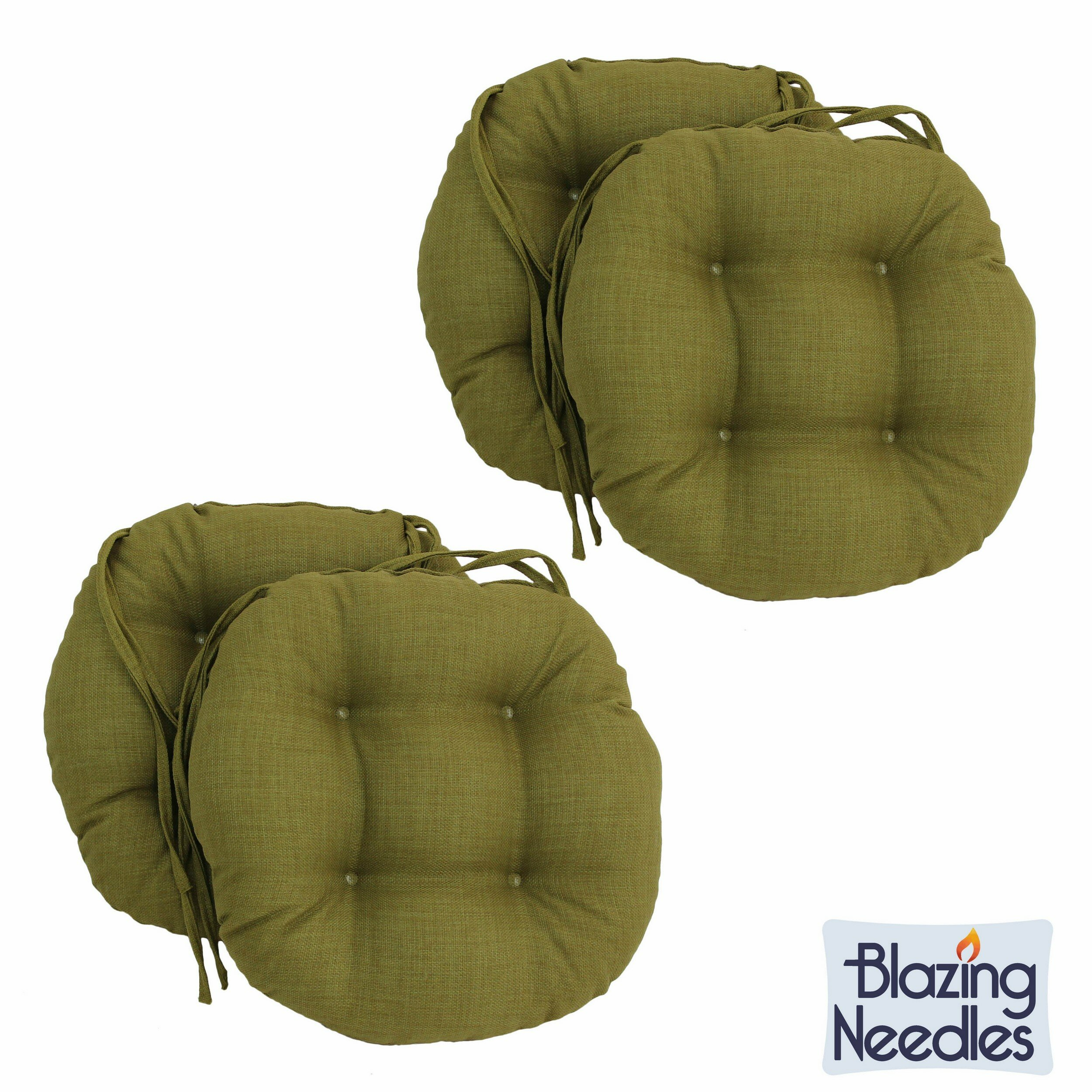 Blazing Needles Blazing Needles 16 Inch Round Indoor/Outdoor Chair Cushions  U0026 Reviews | Wayfair