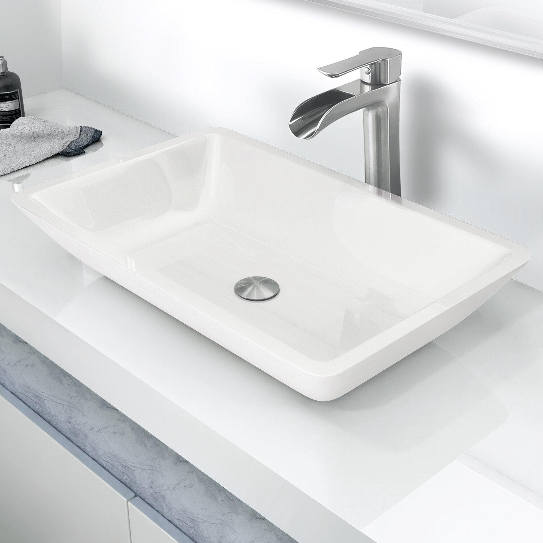 VIGO Phoenix Stone Rectangular Vessel Bathroom Sink & Reviews   Wayfair