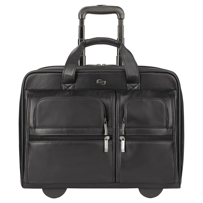 e507af57b UNITED STATES LUGGAGE Solo Rolling Leather Laptop Case | Wayfair